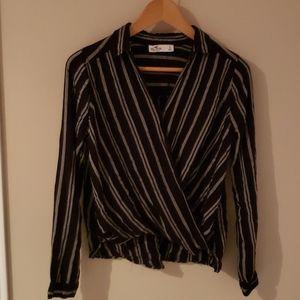 lightweight pinstripe collared shirt